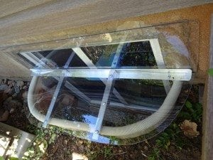 custom clear window well cover